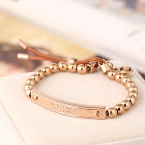 Michael Kors Leather Strap Adjustable Bracelets